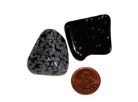 Snowflake Obsidian - tumbled - medium