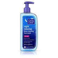 Clean & Clear® Night Relaxing Deep Cleaning Face Wash Oil Free - 8 fl oz