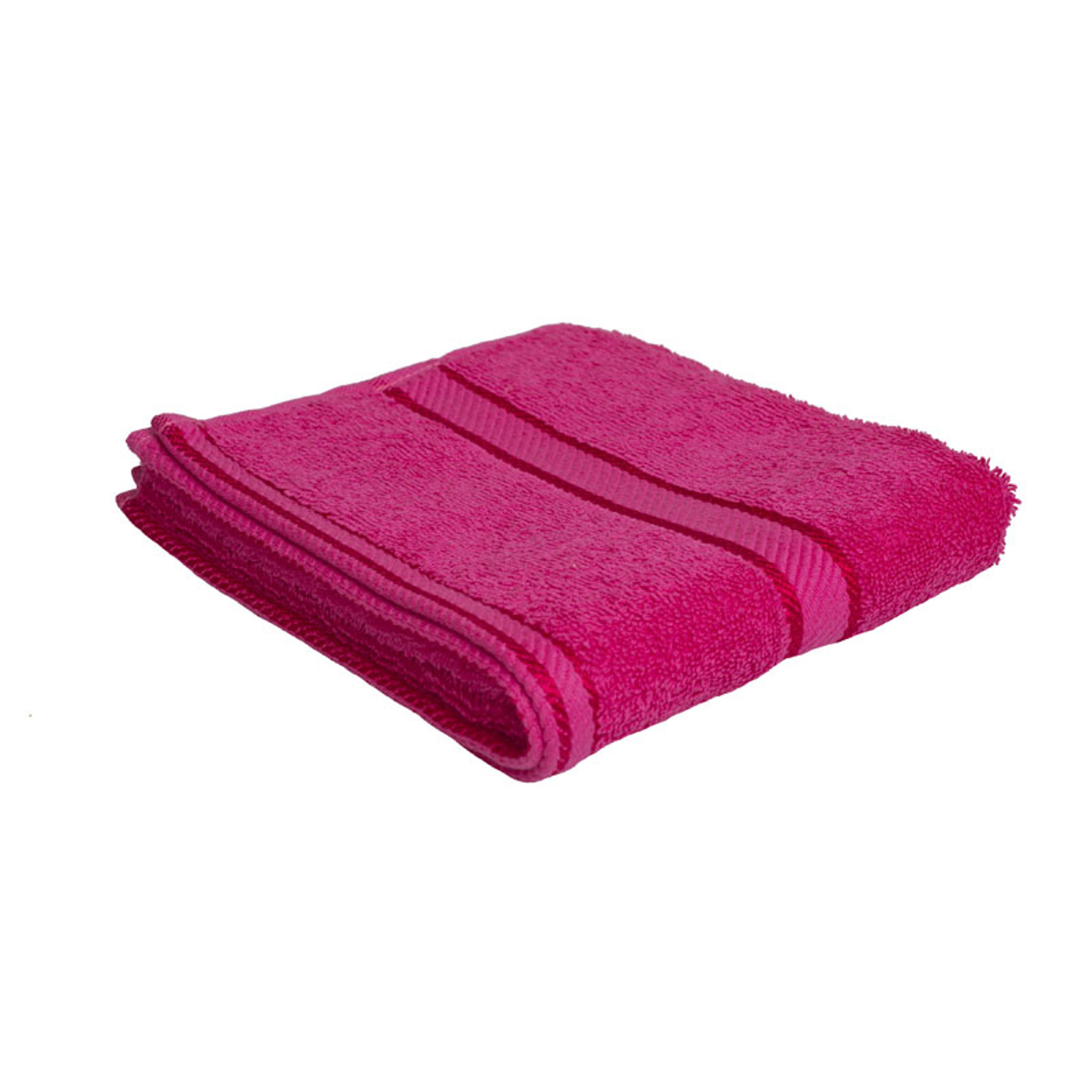 Hot Pink Towels Bathroom: 100% Cotton Fuchsia / Hot Pink Hand Towel By Kingtex
