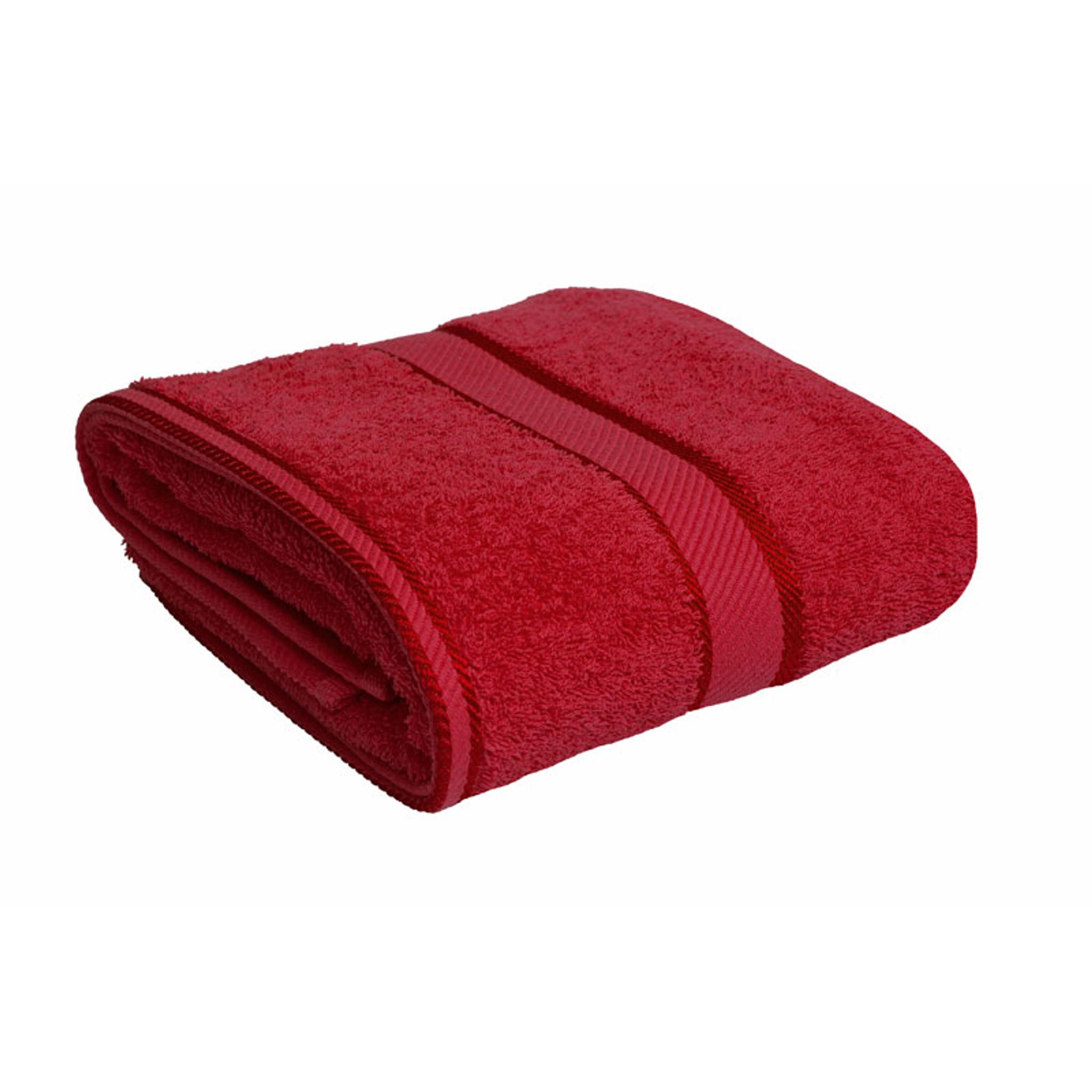 Red Towels Bathroom: 100% Cotton Red Bath Towel By Kingtex