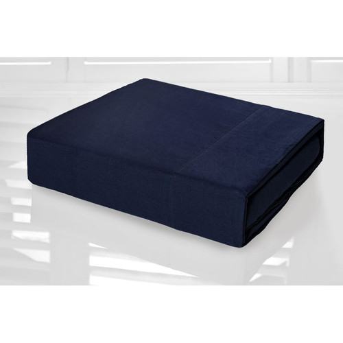 Navy Blue Sheet Set 225TC Easy Care Percale | Single Bed