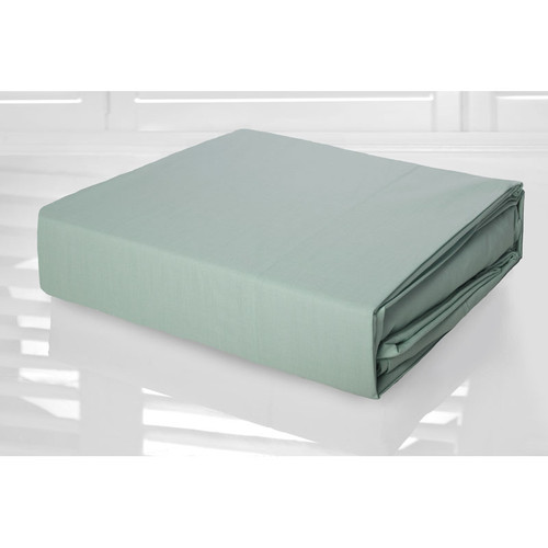 Frost Green Sheet Set 225TC Easy Care Percale | King Single Bed