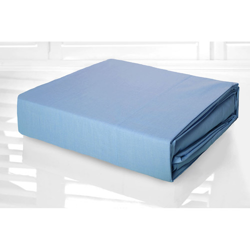 Blue Sheet Set 225TC Easy Care Percale | King Single Bed