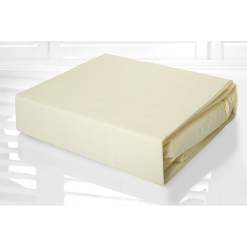 Cream Sheet Set 225TC Easy Care Percale | King Single Bed