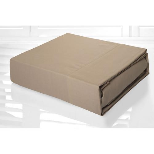Linen Latte Sheet Set 225TC Easy Care Percale | King Single Bed