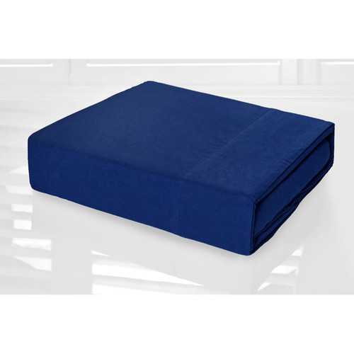 Royal Blue Sheet Set 225TC Easy Care Percale | Double Bed