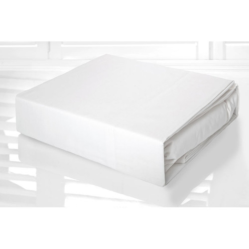 White Sheet Set 225TC Easy Care Percale | King Single Bed