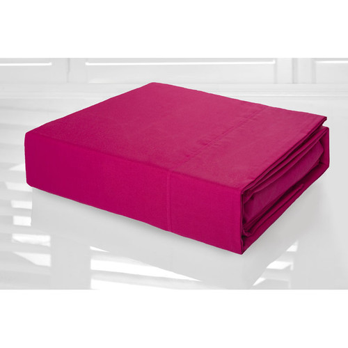 Fuchsia Hot Pink Sheet Set 225TC Easy Care Percale | Double Bed