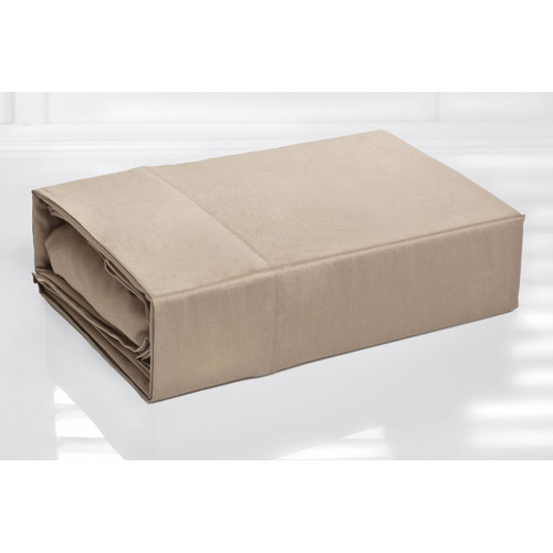 100% Cotton Sheet Set 300TC Linen Latte | Single Bed