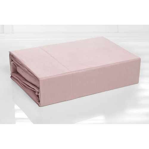 100% Cotton Sheet Set 300TC Pink | Single Bed
