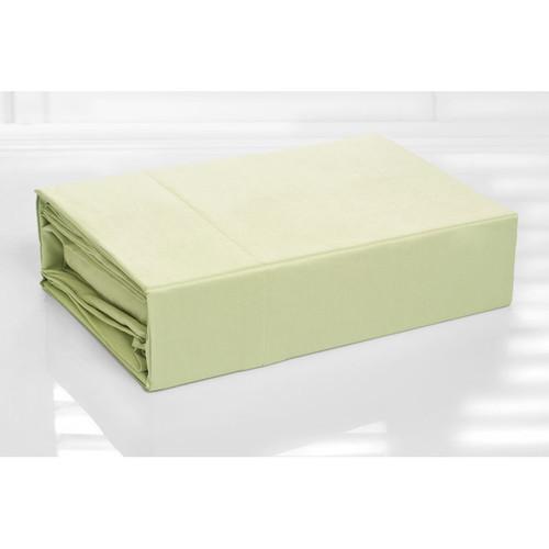 100% Cotton Sheet Set 300TC Green | King Single Bed
