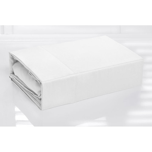 100% Cotton Sheet Set 300TC White | Single Bed