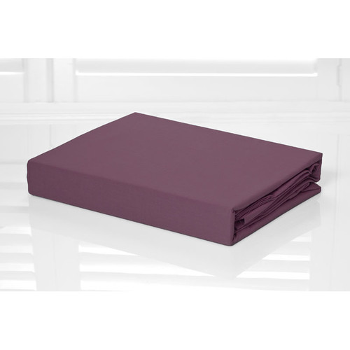 100% Cotton Fitted Sheet & Pillowcase Combo 250TC Shiraz Burgundy | King Single Bed
