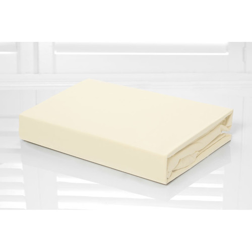 100% Cotton Fitted Sheet & Pillowcase Combo 250TC Cream | Queen Bed