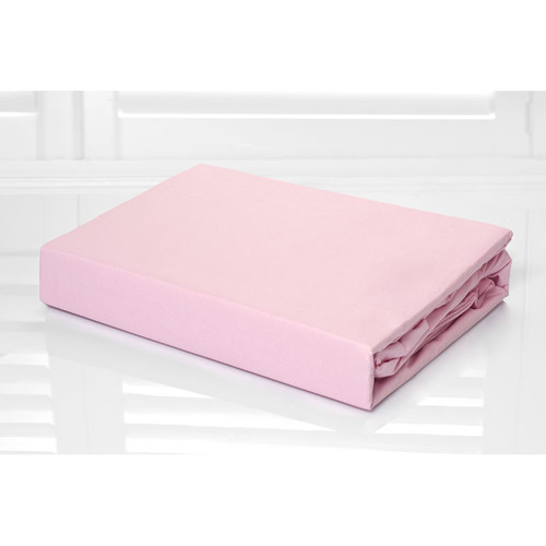 100% Cotton Fitted Sheet & Pillowcase Combo 250TC Rose Pink | Single Bed