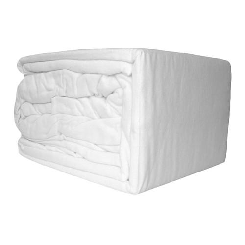 100% Egyptian Cotton Flannelette Sheet Set White | King Single Bed