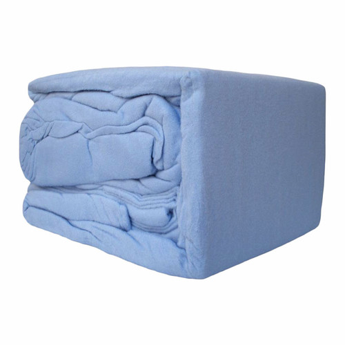 100% Egyptian Cotton Flannelette Sheet Set Blue | King Bed