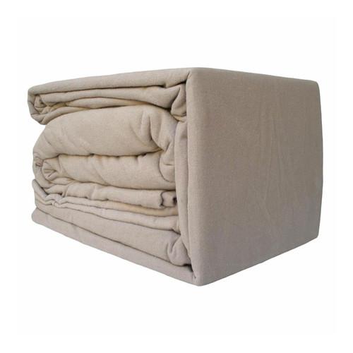 100% Egyptian Cotton Flannelette Sheet Set Linen   Queen 50cm Bed