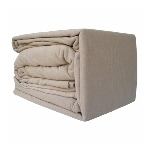 100% Egyptian Cotton Flannelette Sheet Set Linen   King 50cm Bed
