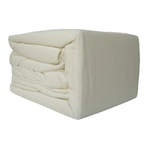 100% Egyptian Cotton Flannelette Sheet Set Cream   Queen 50cm Bed