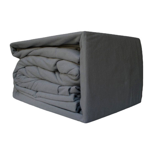 100% Egyptian Cotton Flannelette Sheet Set Charcoal | King 50cm Bed