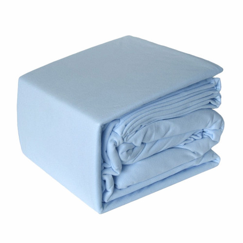 Micro Flannel Sheet Set Blue | Double Bed