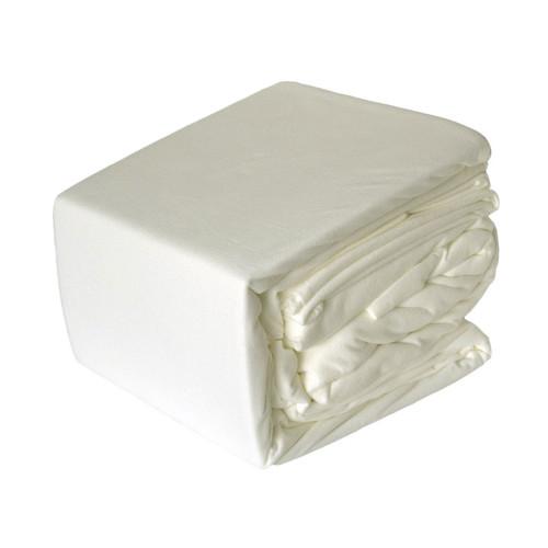Micro Flannel Sheet Set Cream   Queen Bed