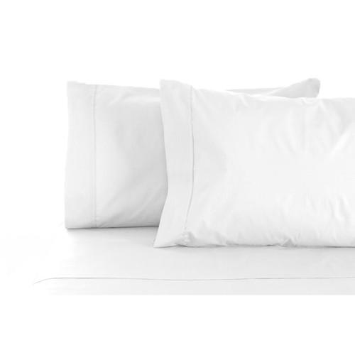 100% Cotton Sheet Set 1000TC White   Queen 50cm Bed