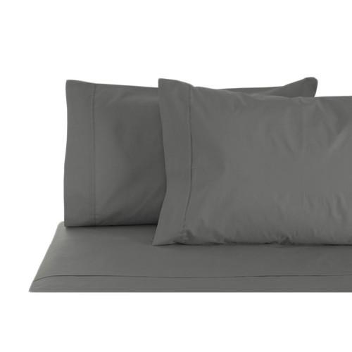 100% Cotton Sheet Set 1000TC Charcoal   Queen 50cm Bed