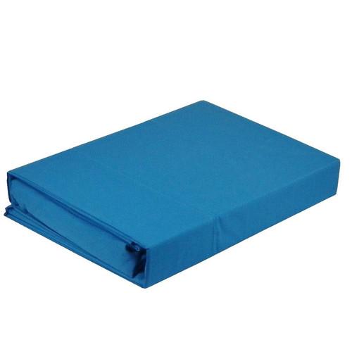 Paris Aqua Sheet Set 225TC Easy Care Percale | King Single Bed
