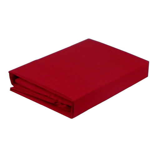 Paris Red Sheet Set 225TC Easy Care Percale | King Single Bed
