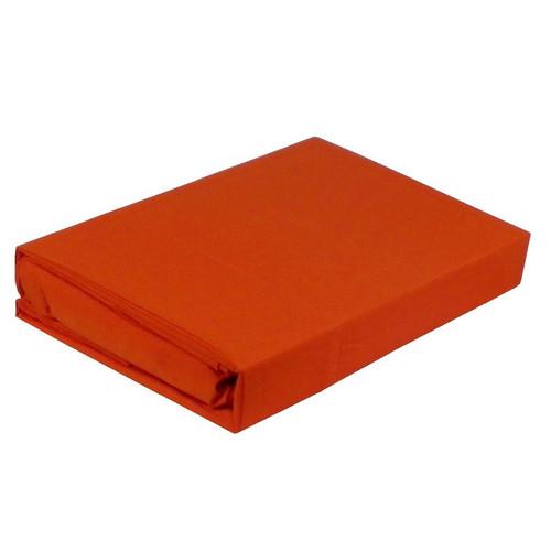 Paris Orange Sheet Set 225TC Easy Care Percale | King Single Bed