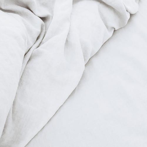 Doux 100% Linen Sheet Set White | King Bed