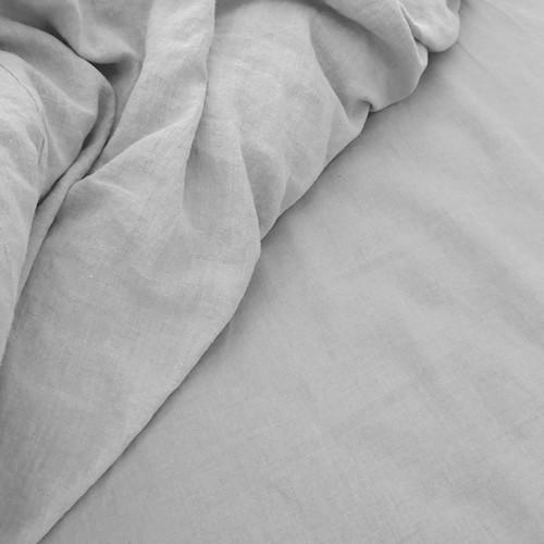 Doux 100% Linen Sheet Set Grey   Queen Bed