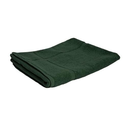 100% Cotton Forest Green Towels | Bath Mat