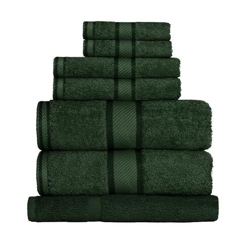 100% Cotton Forest Green Towels | 7pc Bath Sheet Set