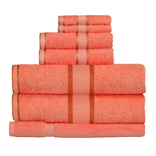 100% Cotton Terracotta / Rust Towels | 7pc Bath Towel Set