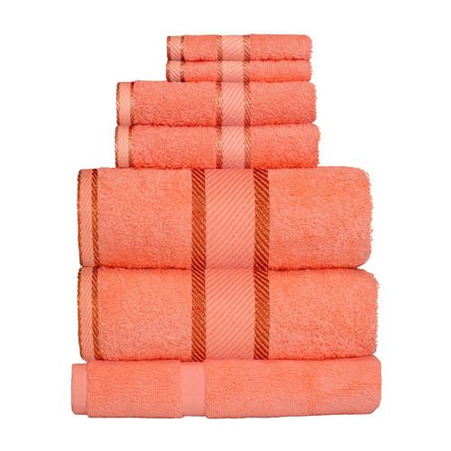 100% Cotton Terracotta / Rust Towels   7pc Bath Sheet Set