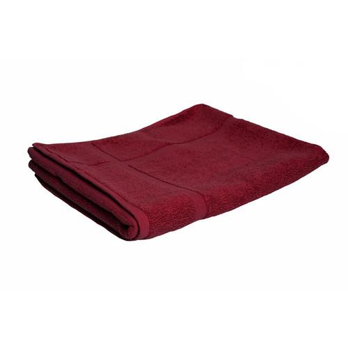100% Cotton Burgundy Towels | Bath Mat