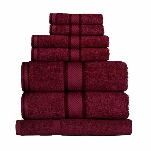 100% Cotton Burgundy Towels | 7pc Bath Sheet Set