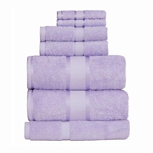 100% Cotton Lilac Towels | 7pc Bath Sheet Set