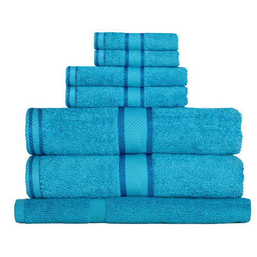 100% Cotton Bright Aqua Towels | 7pc Bath Towel Set