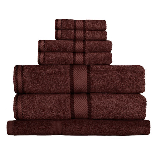 100% Cotton Chocolate Brown Towels | 7pc Bath Towel Set