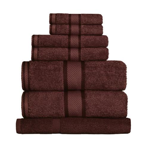 100% Cotton Chocolate Brown Towels | 7pc Bath Sheet Set