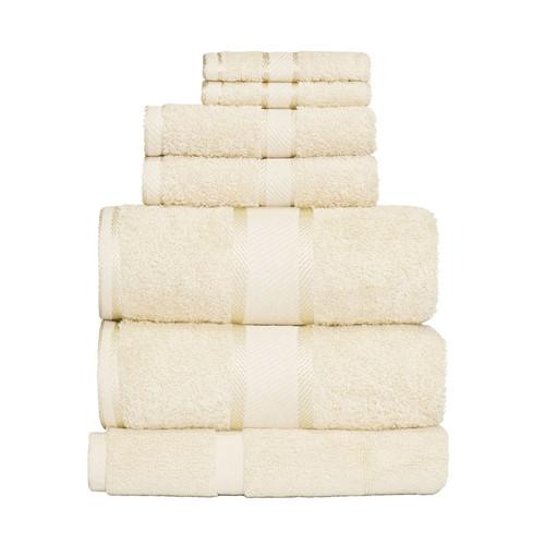 100% Cotton Cream Towels | 7pc Bath Sheet Set
