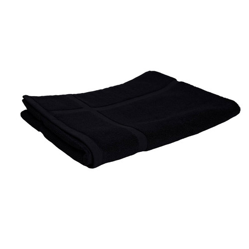 100% Cotton Black Towels | Bath Mat