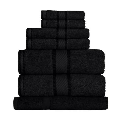 100% Cotton Black Towels | 7pc Bath Sheet Set