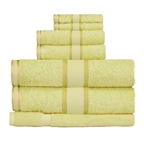 100% Cotton Apple Green Towels | 7pc Bath Towel Set