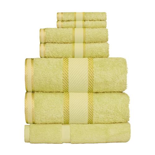 100% Cotton Apple Green Towels | 7pc Bath Sheet Set