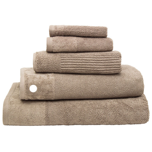 100% Cotton Mocha Ribbed Towels | Bath Towel